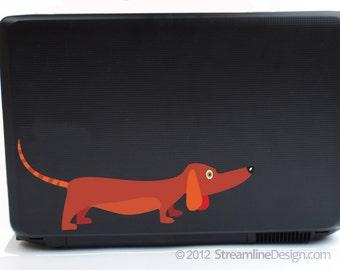 Dachshund Vinyl Laptop or Automotive Art FREE SHIPPING dachshund laptop sticker doxie doxy weiner dog dog lover dachshund sticker