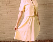 Pale Yellow 1950's Inspired Dress