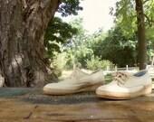 Vintage Espadrilles / 8 1/2 Women's Shoes / Vintage Wedges / Grasshoppers