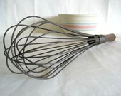 large wire whisk wood handle TREASURY PICK