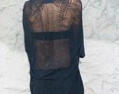 Shredded Black Shirt - Tunic - Dress