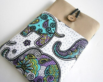 Kindle case, Kindle sleeve, Kindle fire sleeve cover-Elephant