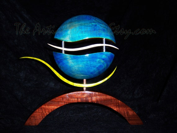 Wood Art Sculpture  -  Hand Dyed Wood Sculpture - Abstract Art by Akita Wood Works