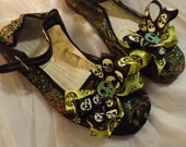 OOAK flat maryjane embellished shoes