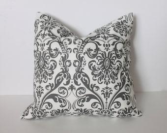 CLEARANCE - 16 x 16 Grey Abigail Pillow Cover - Premier Prints