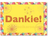 PDF card Dankie - Thank you in Afrikaans