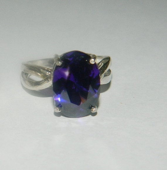 Deep purple amethyst ring of sobriety & healing