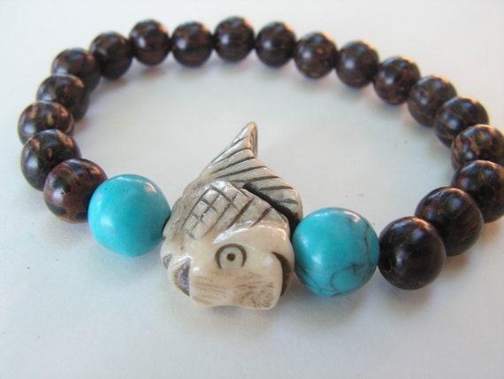 Items Similar To Man Bracelet Mens Jewelry Fish Bracelet