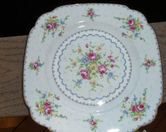 Royal Albert Petit Point Square Salad Plate