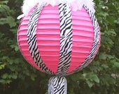 Items Similar To Hot Pink And Zebra Stripe Ribbon And