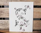 Personalized Quilled Letter 8x10