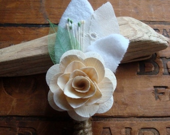 Sweet Green Boutonniere