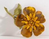 Vintage mid century Enamel Flower