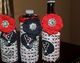 Houston Texans Embellished bottle koozies