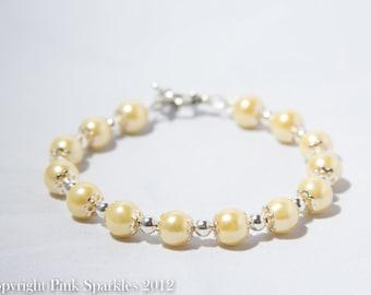 Lemon Yellow Pearl Bracelet