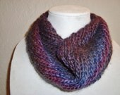 Purples and Blues Warm and Cozy Cowl