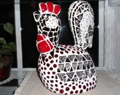 """Sculpted MOSAIC ROOSTER / 14.5"""" tall X 11"""" wide / One of a Kind / Piece Made / Direct From Artist"""