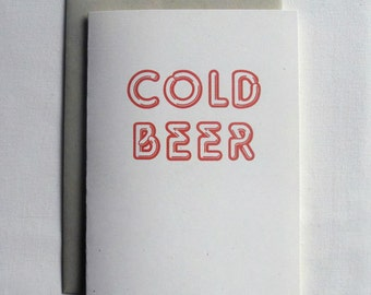 Beer Invitation Card Funny:  Cold Beer