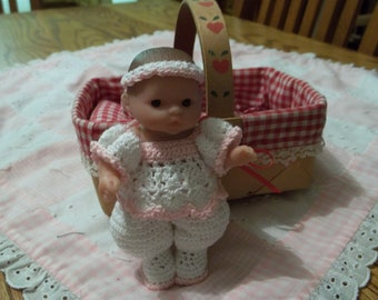 Itty Bitty Baby with handcrocheted clothes