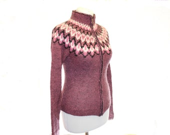 The knitted sweater cardigan / womens cardigans / Bordeaux / knit cardigan/ knitted sweater / knitted cardigan