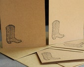Cowboy Boots Greeting Cards