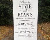 BIGdayDECOR DOUBLE SIDED wedding day wood sign - Suzy and Ryan