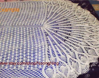 Made to order/ Doily / Pineapple doily / Peacock doily / Oval Tablecloth   No.TC-03