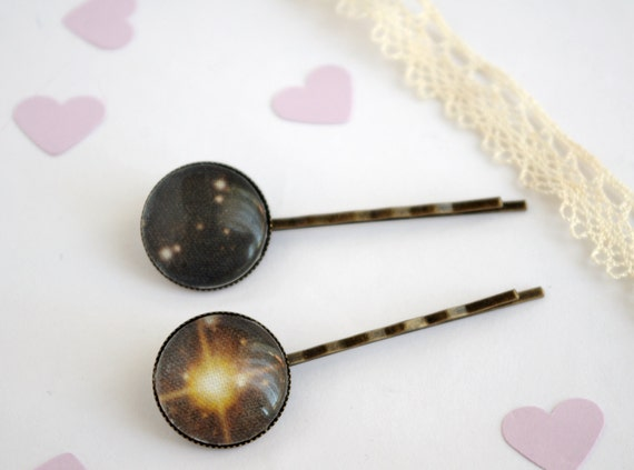 Hair Pin Galaxy Bobby Pin Star