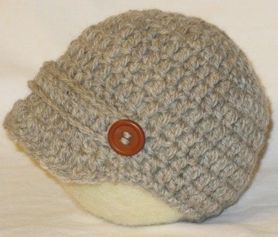 Hat, Baby Hat, Newsboy Hat, Crocheted Hat, Wool Hat, Wool Newsboy Cap,  Newsboy Cap