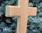 RESERVED for Amy-- Unfinished Wooden Cross with No Base