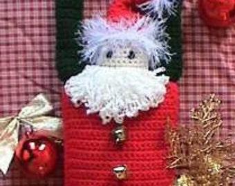 Santa CROCHET PATTERN Doorknob Hanger Ole St. Nick Primitive