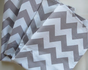 Chevron Cloth Napkins in Grey