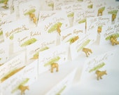 Favor and placecard in one - Save money - Winter Wedding Your choice animal magnet holders wedding
