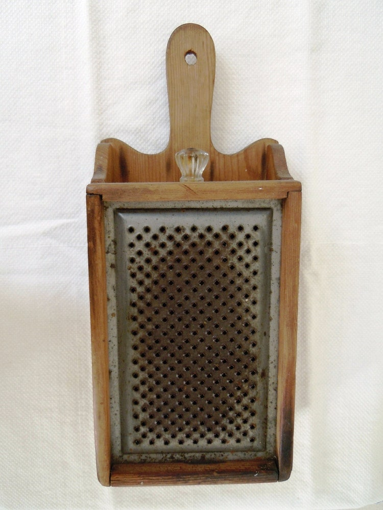 Antique Wooden Cheese Grater With Drawer By Abslewtlyvintage