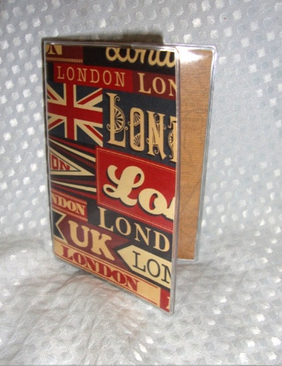 London Vinyl Passport Cover Travel Passport Holder