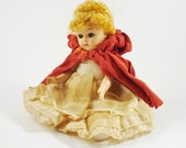 RESERVED Vintage Doll / Little Red Riding Hood Doll TREASURY ITEM