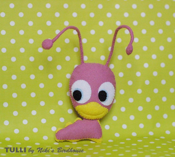 TULLI from Baby TV - plush felt Tulli - made to order