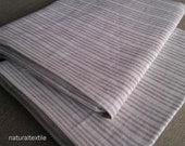 "Pair of 100% LINEN PILLOWCASES Flax STANDARD 20""x30"" (51x76 cm) - Tan Stripes"