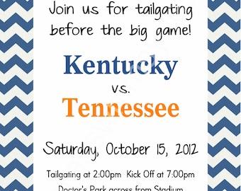 University of Kentucky Tailgate Invitation