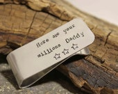 Hand Stamped Money Clip - great father, grandfather, groomsman etc gift