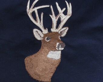 "Embroidered ""Tis the Season"" Buck Head Hoodie"
