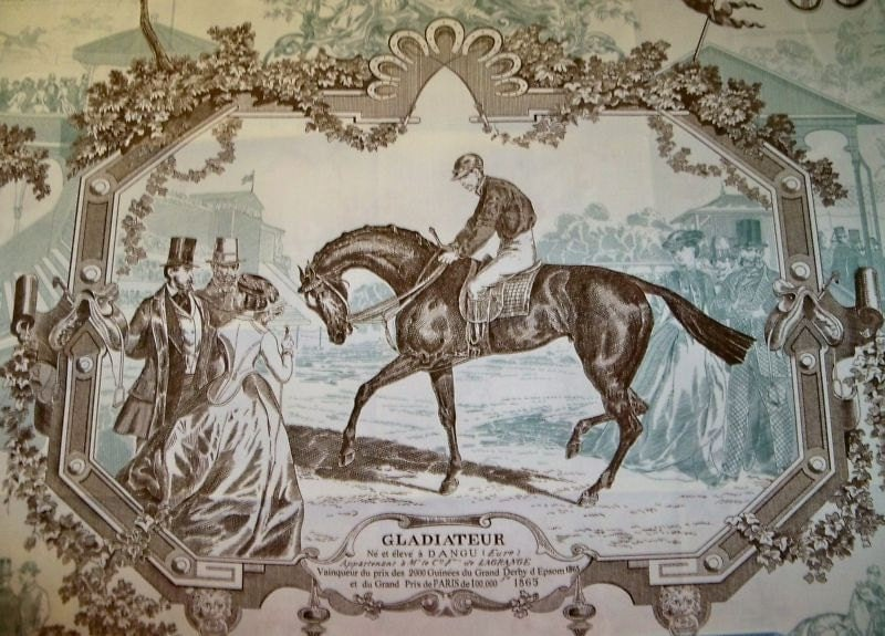 Gladiateur Equestrian Horse Toile Fabric 4 Yards