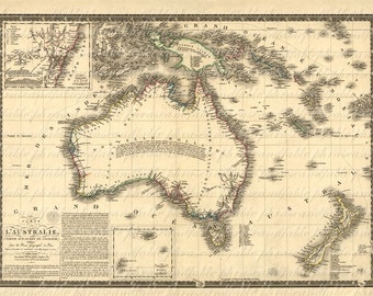 Map Of Australia From The 1800s 067 Down Under Travel Vacation Adventure Island Oz Cartography Old World Ancient