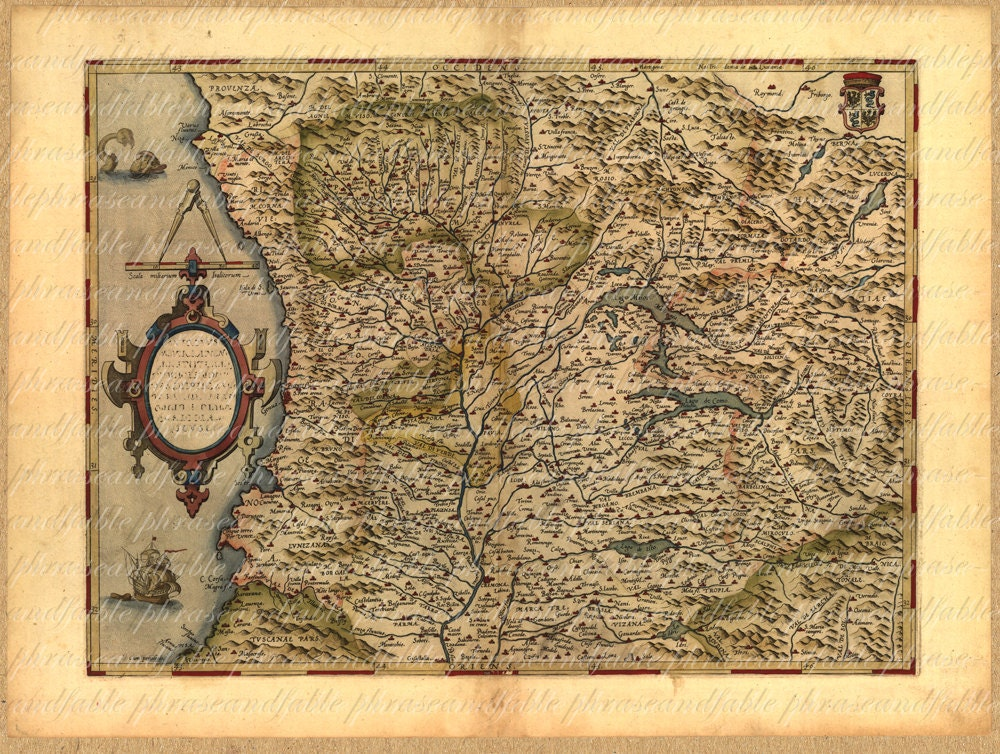 Map of Northwest Italy 154 Genoa Lago Major Lago Como Milan