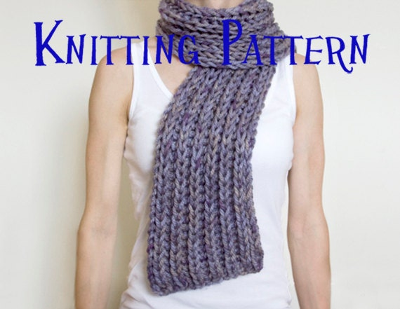 Easy Knitting Patterns Instructions : Instant download pdf knitting pattern simple super