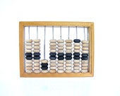 Vintage wooden abacus small calculator mathematics school