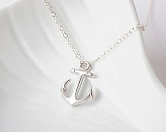 Little Anchor Necklace (Sterling Silver Chain)