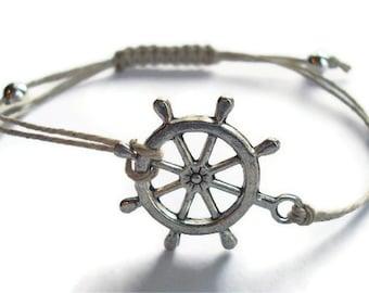 Nautical Rudder Bracelet