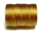Gold C-Lon Bead Cord, 1 Bobbin of 92 Yards - Item 925