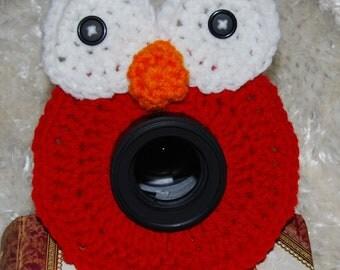 Crocheted Elmo Camera Buddy (FREE SHIPPING)